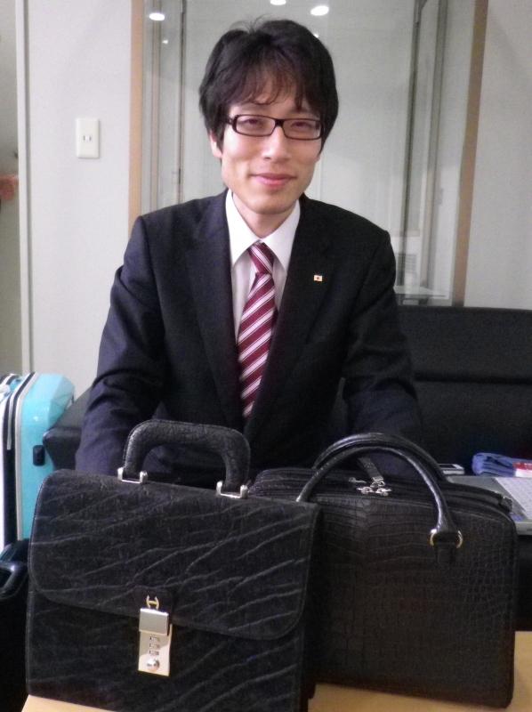 竹田先生とハオバッグ