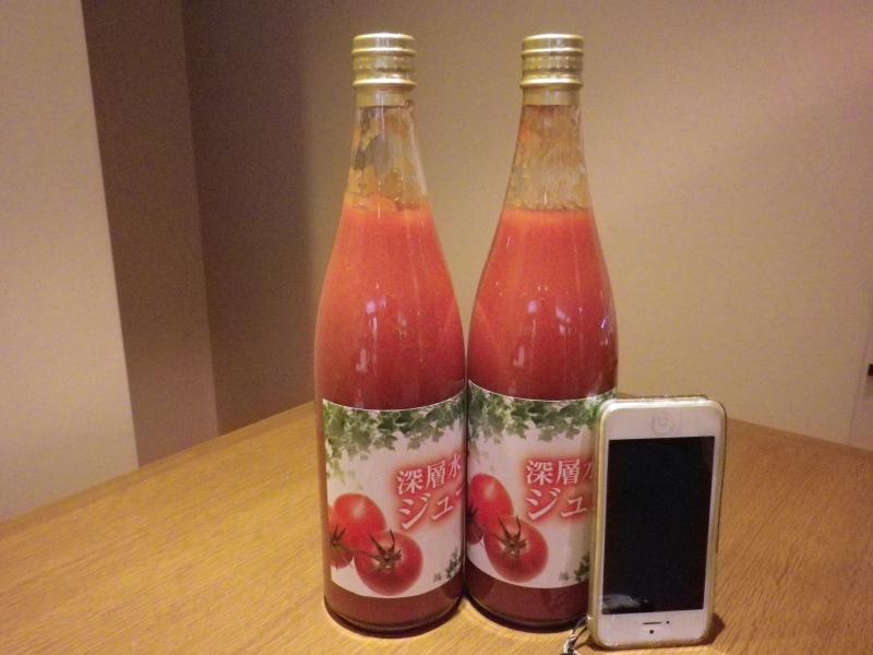 トマトジュースiphone5と一緒