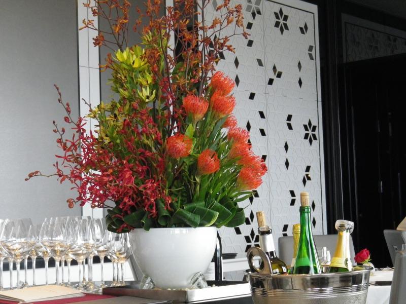 ラ・プラ-ジュ ワインと花