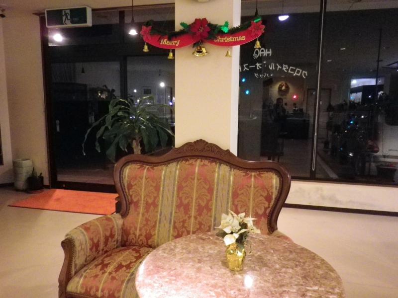 クリスマス飾り 店中央